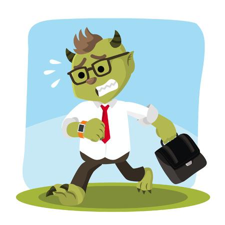 hurried: monster office running hurried