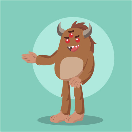 bigfoot standing character vector illustration design