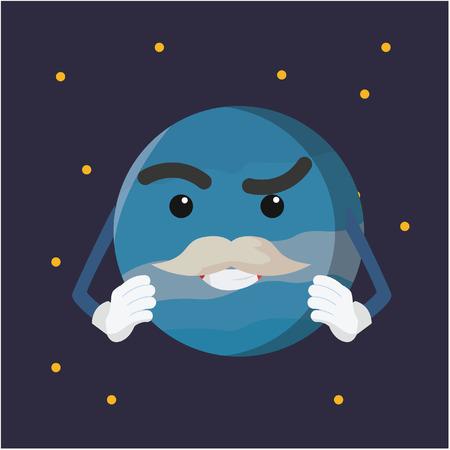 uranus: uranus planet illustration design