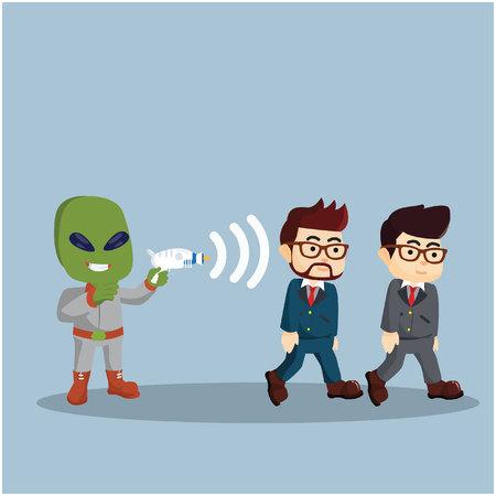 gun control: alien control human with his gun
