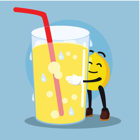 loves: lemon man loves lemonade Illustration