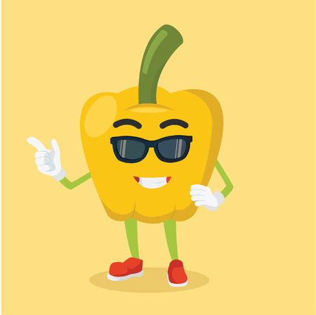 paprika: paprika man cool with sun glasses Illustration