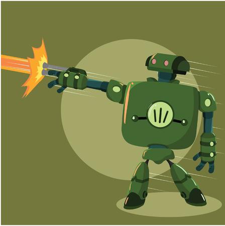 firing: big robot firing cannon