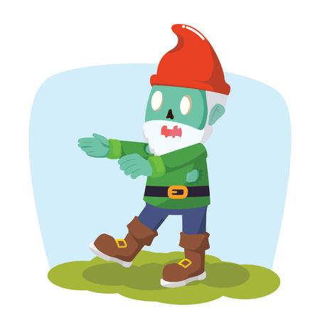 gnomos: zombi gnomos ilustración vectorial de diseño Vectores