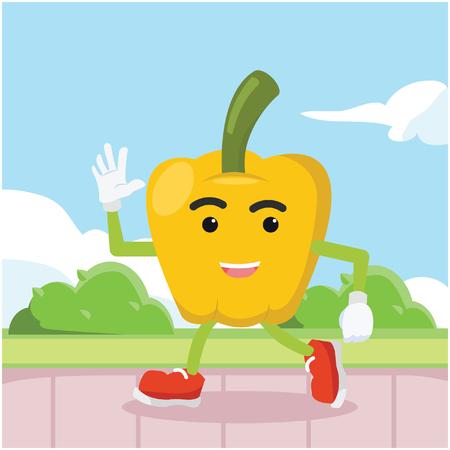 paprika: paprika man walking colorful Illustration