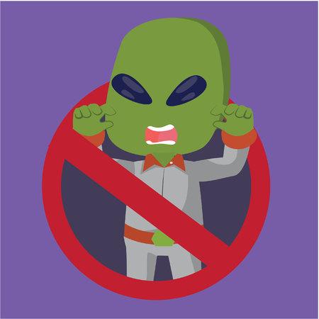 prohibido: ilustración, diseño, prohibida extranjero