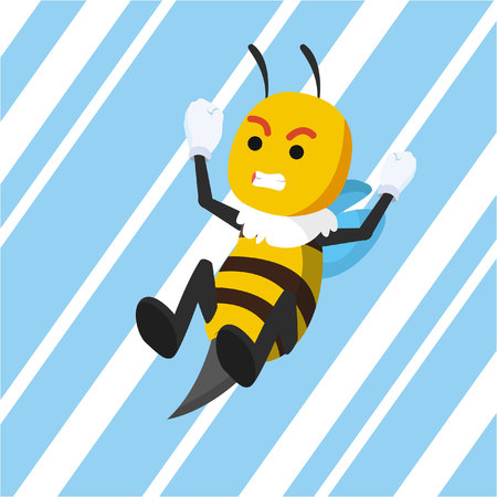 stinging: bee stinging vector illustration design Illustration