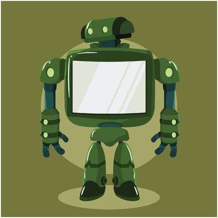 big screen: big robot with big screen