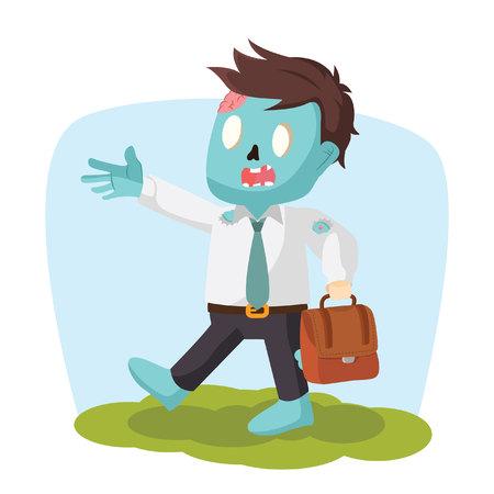 hurried: zombie office running hurried