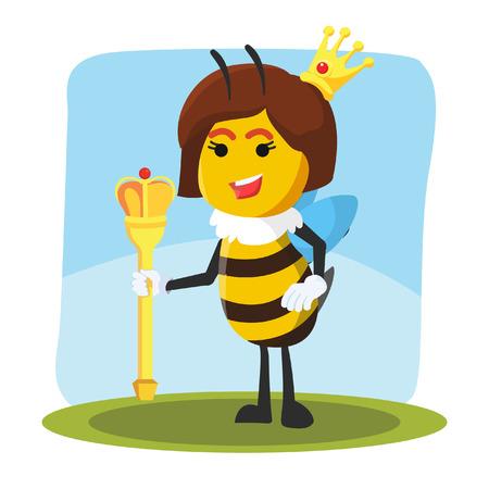 abeja reina: abeja reina ilustración vectorial de diseño Vectores
