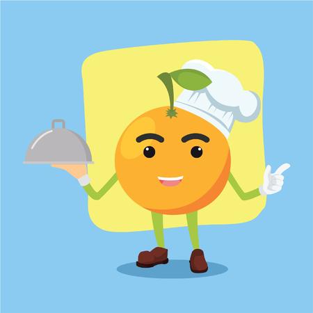 being: orange man being chef