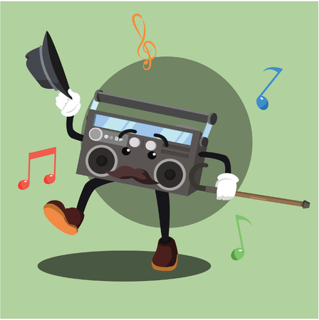 radio dancing vector illustration design Illustration