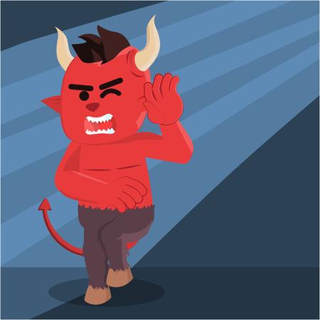 satanic: devil afraid of light Illustration