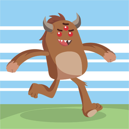 bigfoot running illustration design
