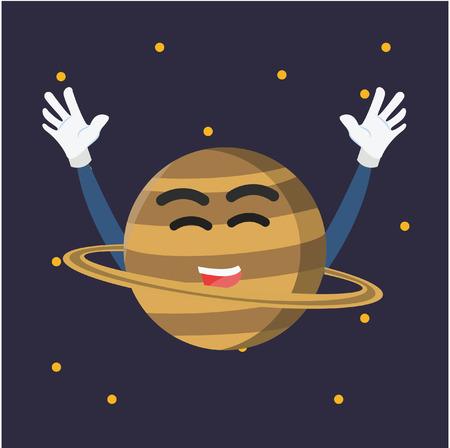 saturn planet: saturn planet illustration design