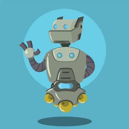 robot vector: cleaning robot vector illustration design