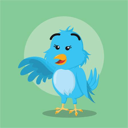 talons: blue bird illustration vector illustration design