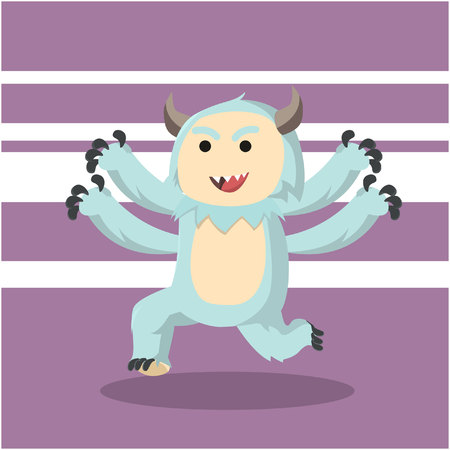 freaky: four arms monster running