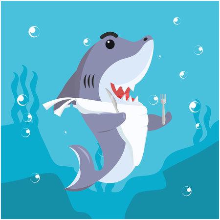 ready to eat: shark ready to eat