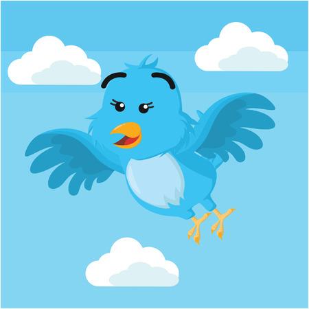 talons: blue bird flying vector illustration design Illustration