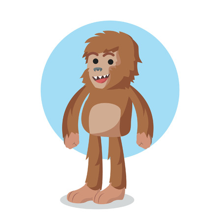 bigfoot character vector illustration design Illustration