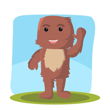 furry: furry monster character vector illustration design