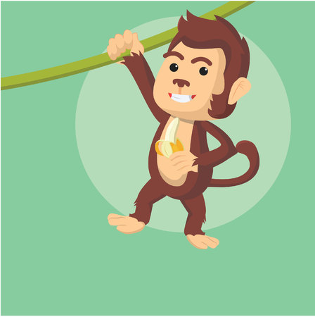swinging: monkey swinging vector illustration design Illustration
