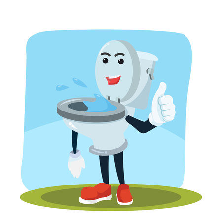toiletman standing character vector illustration design