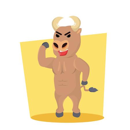 nostril: bull character vector illustration design