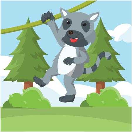 Lemur geschwungen Vektor-Illustration Design