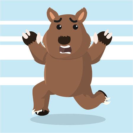 wombat: wombat correr ilustración vectorial de diseño