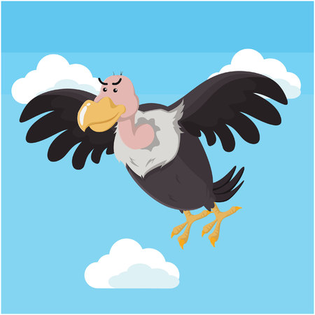 vulture flying vector illustration design