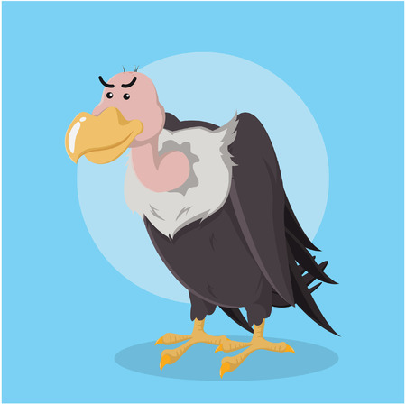 vulture character vector illustration design