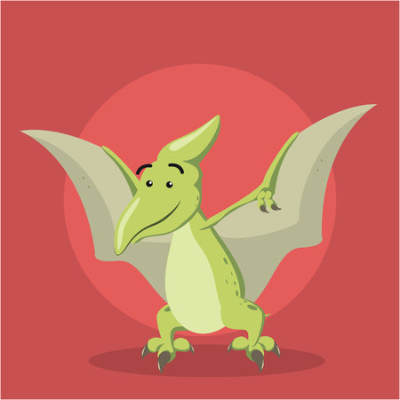 pterodactyl: pteranodon vector illustration design