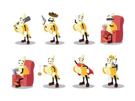 play yoyo: banana man cartoon set