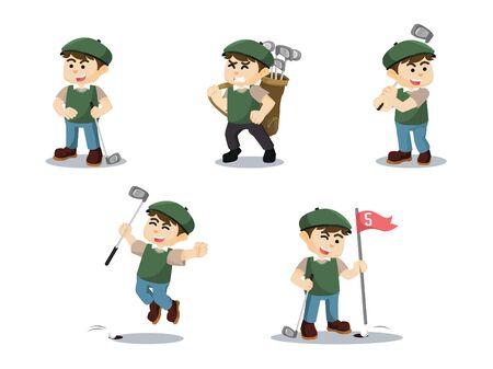 골프 플레이어 만화 세트