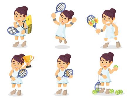 female tennis player set