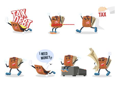 wallet: wallet cartoon set illustration design