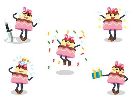 cake cartoon set illustration design Illustration