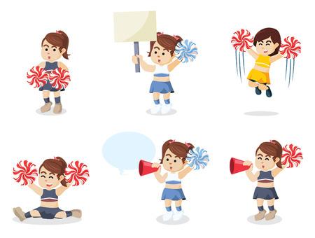 pom: cheerleader set illustration design