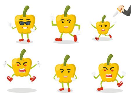 paprika: paprika cartoon set illustration design