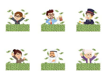 mucho dinero: personas con un conjunto mucho dinero