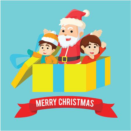 bard: merry christmas present illustration design