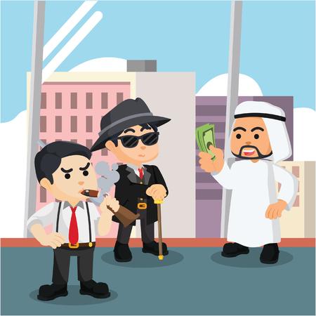 paying: arabian paying mafia illustration design