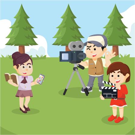 advertisement shooting scene illustration design