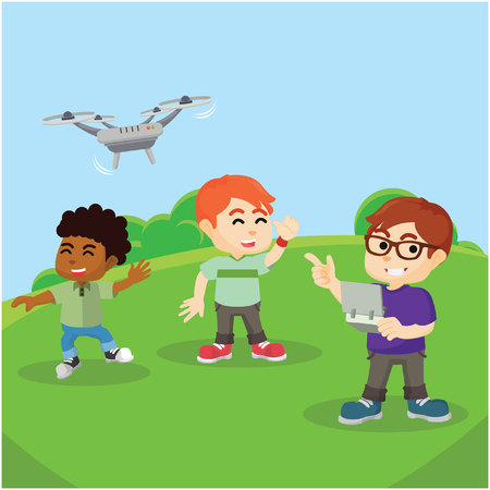 play drone with friend
