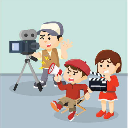 movie crew illustration illustration design