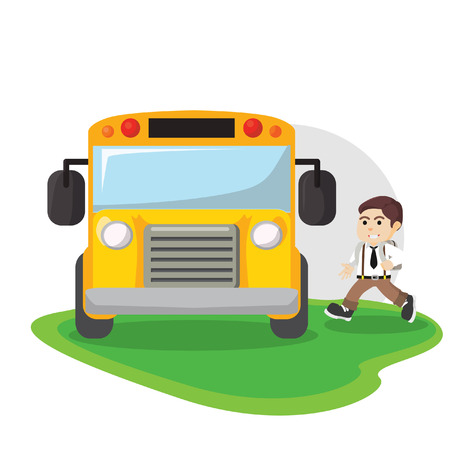 depart: school bus illustration design Illustration