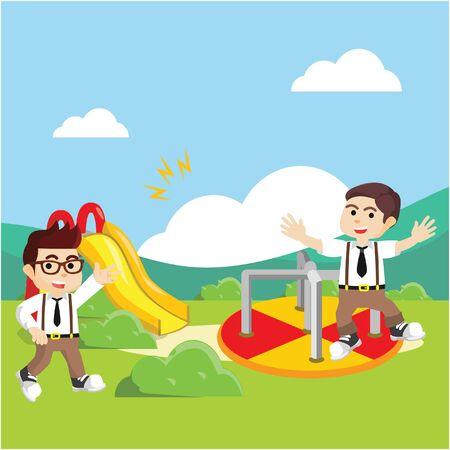 kinder: students playing at kinder garden
