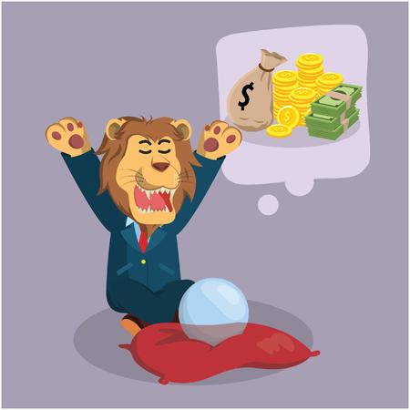 mucho dinero: león de negocios que deseen un montón de dinero